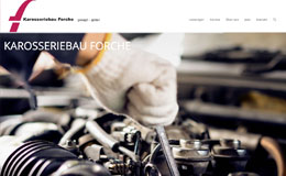 Karrosseriebau Forche - Webdesign CMS Wordpress