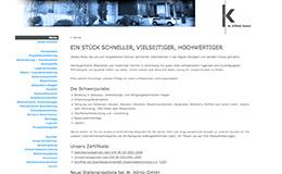 König GmbH Blechbearbeitung Relaunch