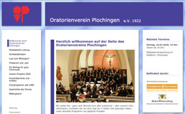 Oratorienverein Plochingen Webdesign Cms Typo3