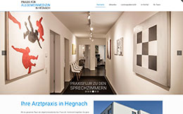 Allgemeinarztpraxis Hegnach - Webdesign mit CMS aus Stuttgart
