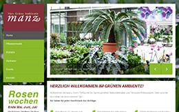 Gärtnerei Manz Website Relaunch mit CMS
