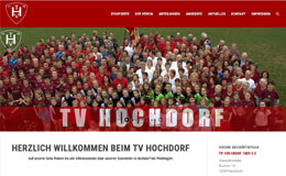 Turnverein Hochdorf bei Plochingen. Webdesign